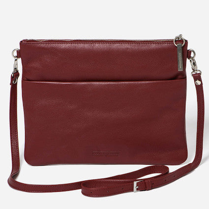Stitch & Hide Juliette Clutch - Cherry