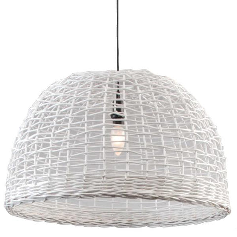 Open Check Lampshade - White