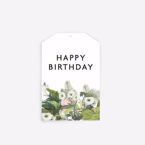 Happy Birthday Botanical Gift Tag