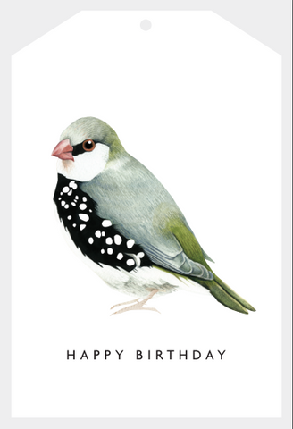 Gift Tag Happy Birthday Bird