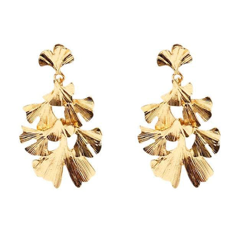 Lindi Kingi Ginko Leaf Earrings