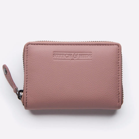 Stitch & Hide Hunter Card Wallet - Dusty Rose