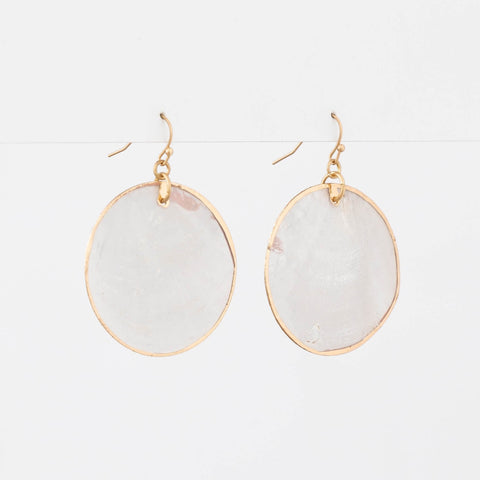 Mother of Pearl Hoop Earring