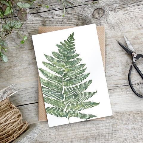 Woodland Fern Greeting Card