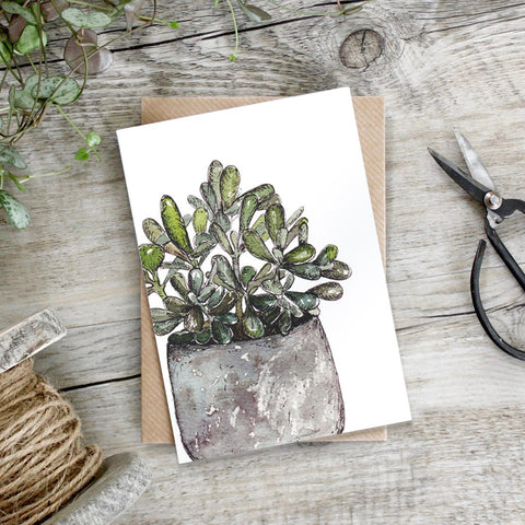 Money Plant Tree Greeting Card