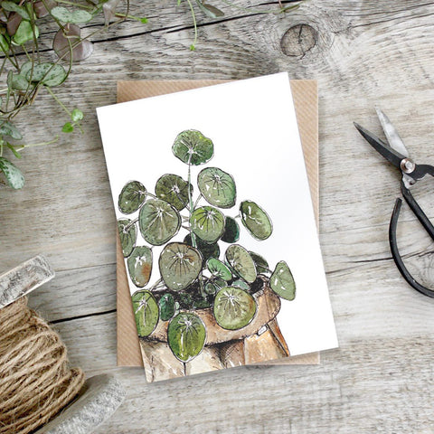 Heart Plant in Pot Greeting Card