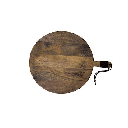 Round Grey Wash Cheeseboard - Large