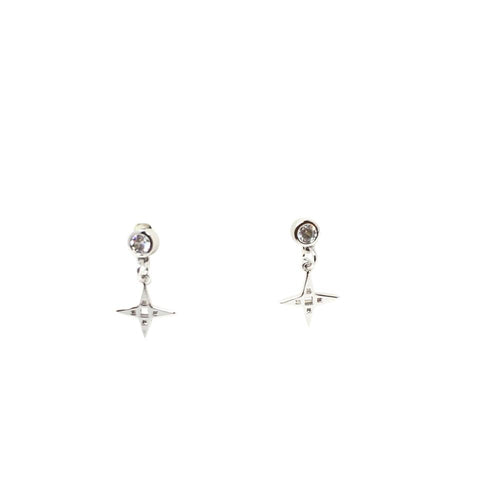 Lindi Kingi Star Stud Earrings - Platinum