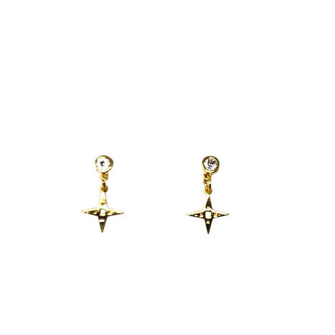 Lindi Kingi Star Stud Earrings - Gold