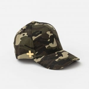 Cap - Summer Camo with Gold Cross