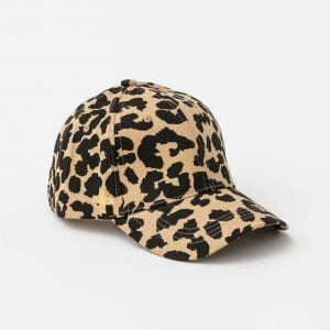 Cap - Summer Cheetah with Gold Cross