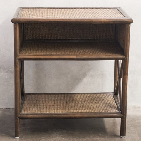 Capezzalle Bedside Table - Brown Wash
