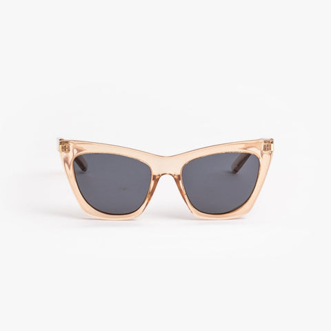 Clara Transparent Brown Sunglasses