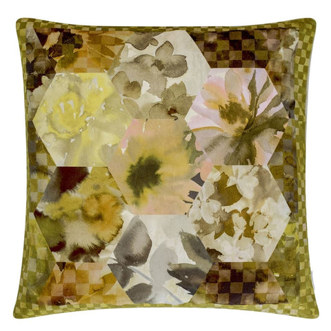 Kashmir Cushion - Ochre 55x55