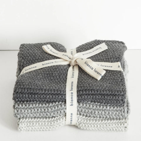 Lavette Wash Cloth - Grey (set of 3)
