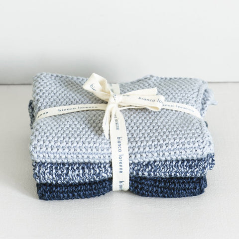 Lavette Wash Cloth - Indigo (set of 3)