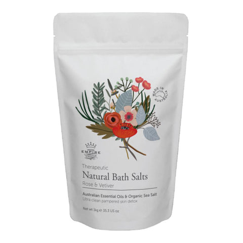 Rose & Vetiver Natural Bath Salts 1kg