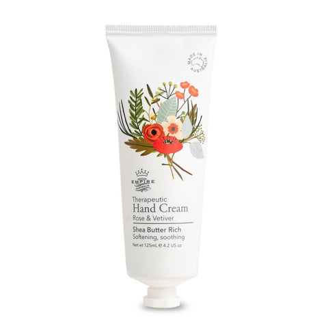 Rose & Vetiver Therapeutic Hand Cream 125ml