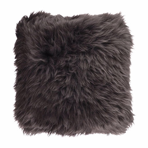 Bianca Lorenne Long Wool Walnut Sheepskin Cushion