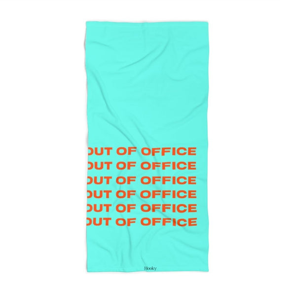 Out of Office Beach Towel-Blue