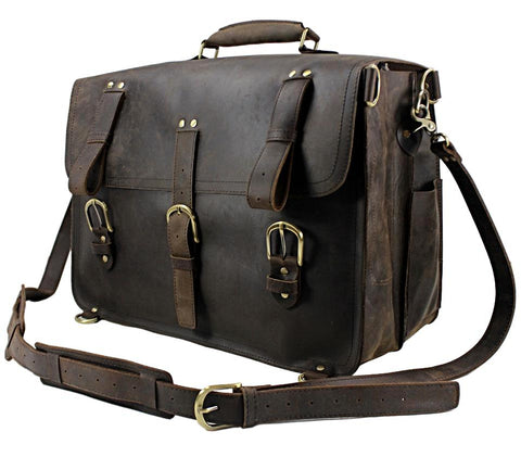 Vintage Crazy Horse Leather Travel Duffel Bag - Rad Luxury Travels