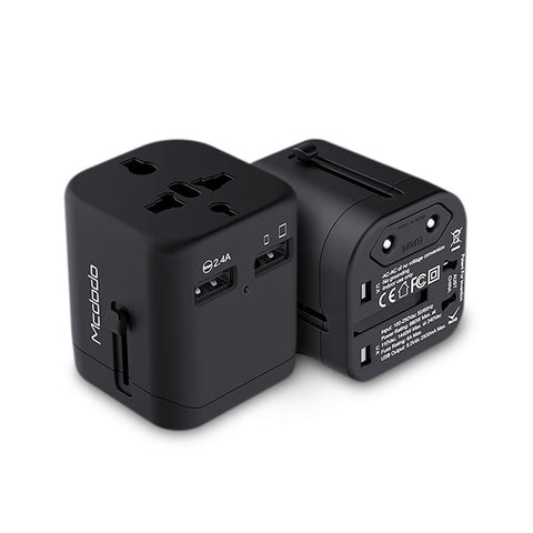 International Travel Power Adapter with Dual USB Charger - Rad Luxury Travels