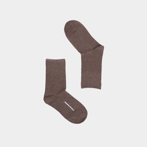 BASIC THIN MOCHA SOCKS