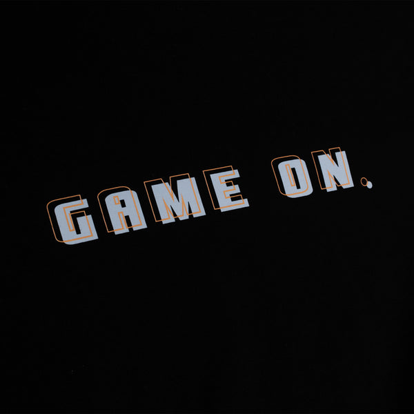 GAME ON TSHIRT BLACK
