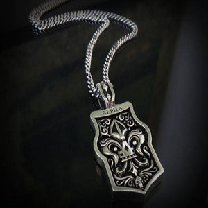 "Silver ""Alpha"" Dog Tag Necklace"