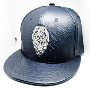 Rock Star Sugar Leather Hat Blue