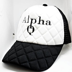 Alpha Q Diamond Mesh Black and White