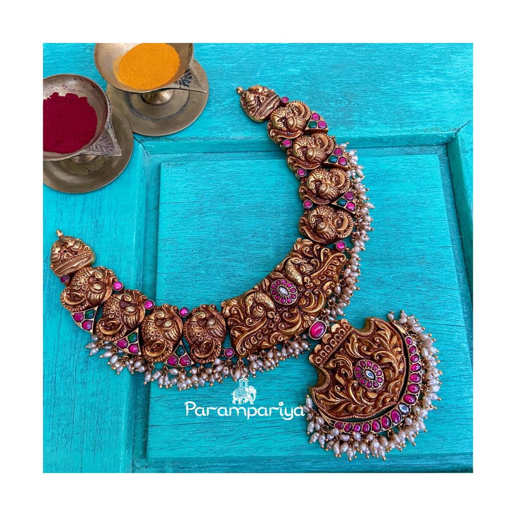 Nagas kundan necklace