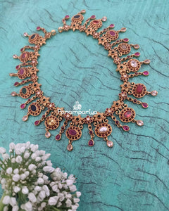 Feather light navrathan necklace