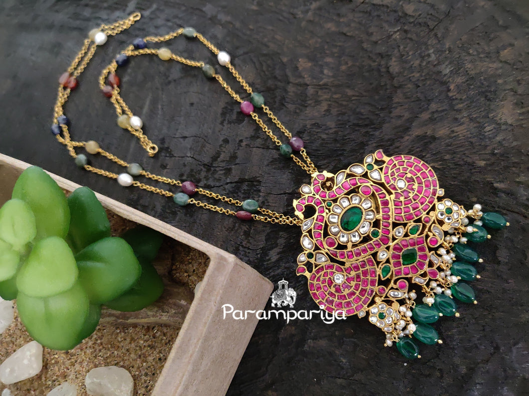 Peacock pendant necklace