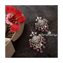 Load image into Gallery viewer, Contemporary kundan earrings