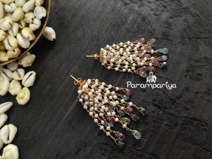 Pearl bunch mala with earrings