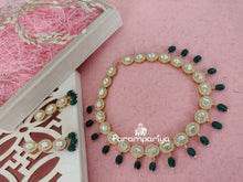 Load image into Gallery viewer, Glittering white necklace with earrings