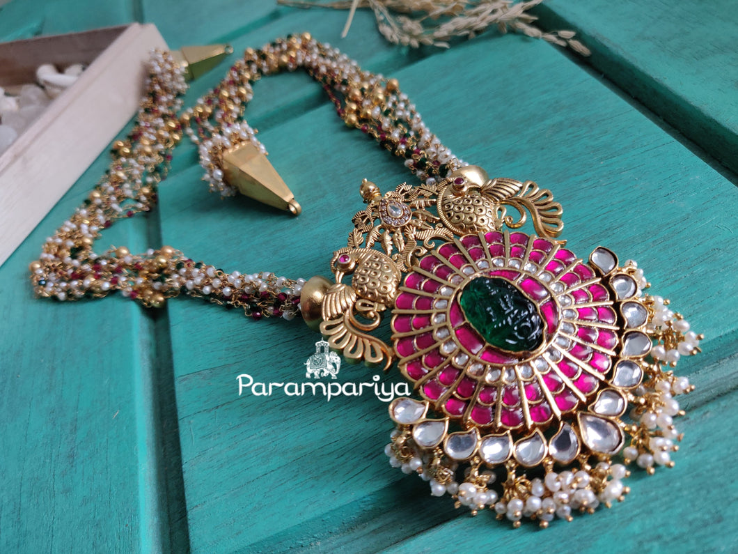 Long statement kundan necklace