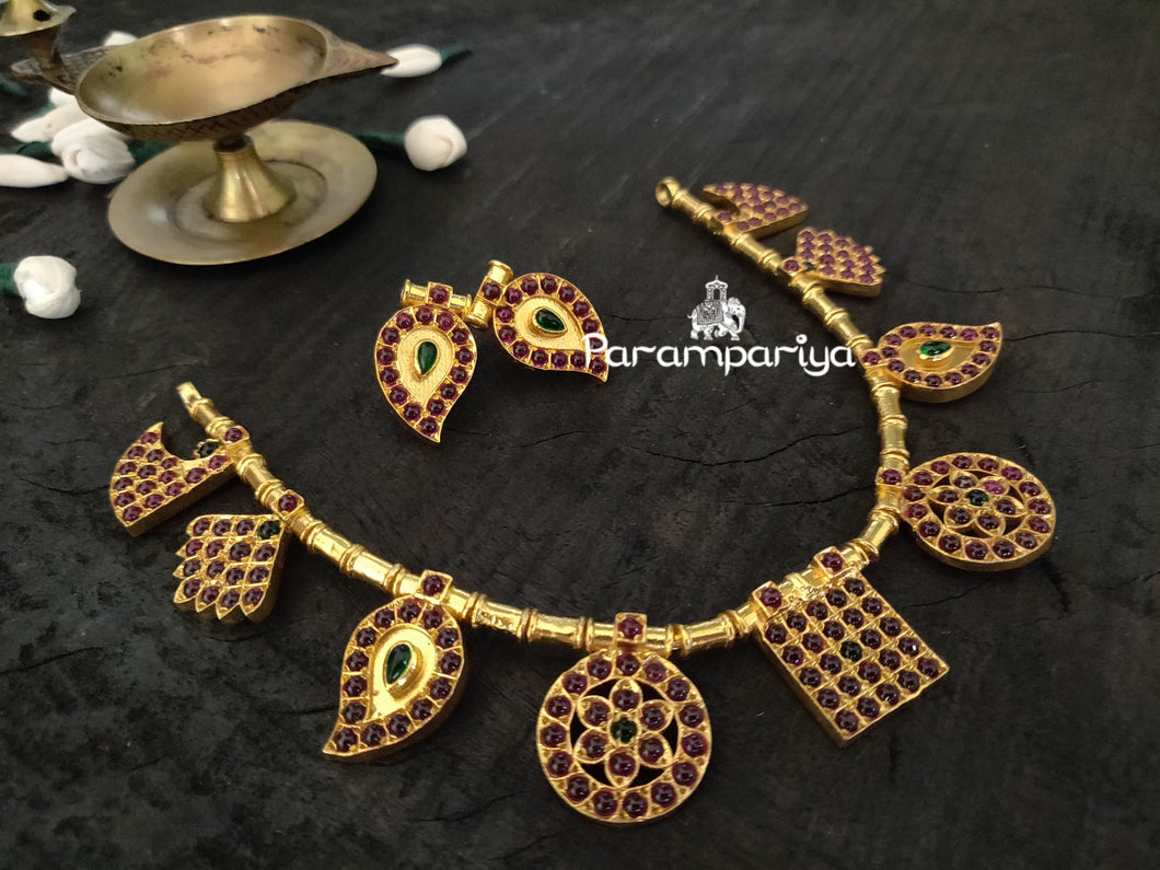 Kemp attigai necklace with matching earrings