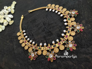 Navrathan guttapusalu necklace