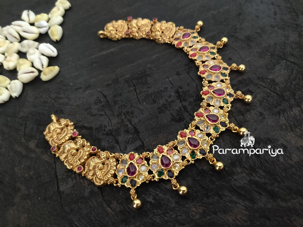 Nagas Navarathan necklace