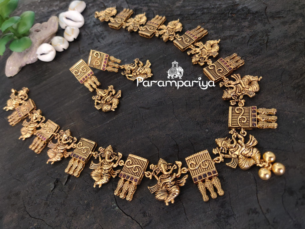 Divine Ganapathy necklace set