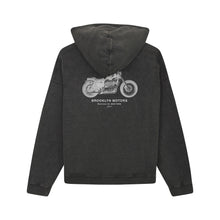 Load image into Gallery viewer, Hoodie noir vintage Brooklyn Motors