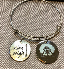 Silver Aim High Bangle