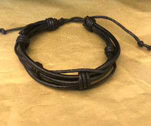 Leather twist knot