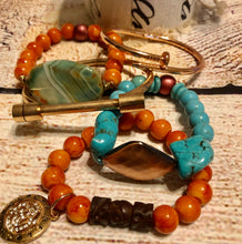 Turquoise Chain & Stone Stack