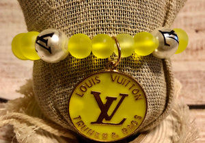 LV Yellow with Satin LV Beads