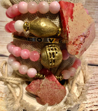 Pink Stone & Brass Stack