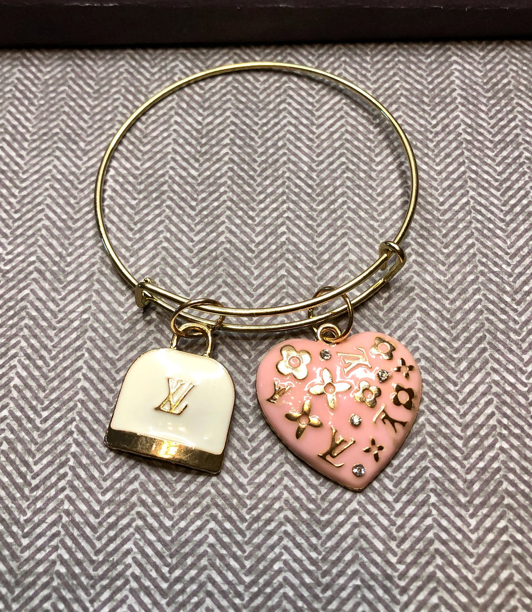 LV Pink and White Gold Bangle