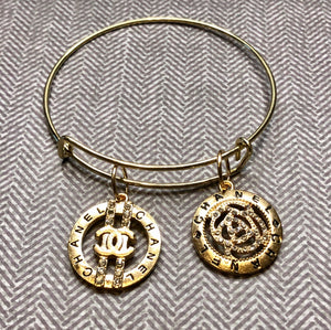 CC Double Charm Gold Bangle